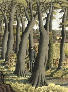 Simon Palmer - The Next Door Neighbor - source Simon Palmer - Longstone Peak - source Simon Palmer - The Composers - source . Landscape Drawings, Landscape Art, Landscape Paintings, Illustrations, Illustration Art, In Natura, Tree Art, Painting & Drawing, Drawing Trees