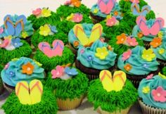 Flip Flop Cupcakes - CupCakes
