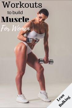 Build lean muscle with this workout plan specifically designed for women while lean bulking. Build lean muscle with this workout plan specifically designed for women while lean bulking. Muscle Mass Workout, Muscle Building Workout Plan, Muscle Fitness, Workouts To Build Muscle, Build Arm Muscle, Muscle Legs, Muscle Nutrition, Muscle Food, Men's Fitness