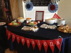 Concessions baseball baby shower