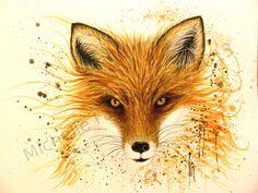 Fox Fire by Michelle-Faber-Art.deviantart.com on @deviantART