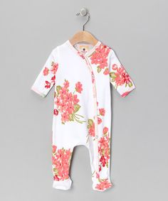 Take a look at this White Aspen Floral Footie - Infant by Country Baby on #zulily today!