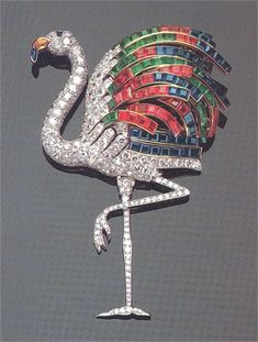 Wallis Simpson's Jeweled Flamingo Brooch