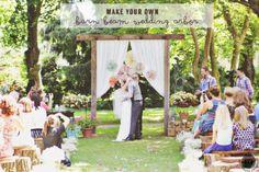 DIY Rustic Wedding Arbor