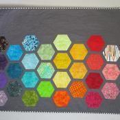 Big Bold Baby Hexagons  Modern Quilt - via @Craftsy