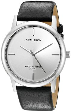 Armitron Men's Quartz Stainless Steel and Leather Dress Watch, Color:Black (Model: 20/5140WTSVBK) ** Check out this great watch.