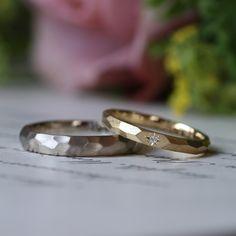 似ているようで面のシャープさを好みに合わせて選んだ多面体が並ぶ結婚指輪 [marriage,wedding,ring,bridal,K18,マリッジリング,結婚指輪,オーダーメイド,ウエディング,ith,イズマリッジ] [marriage,wedding,ring,bridal,Pt900,プラチナ,マリッジリング,結婚指輪,オーダーメイド,ウエディング,ith,イズマリッジ]