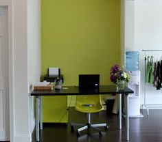 Rooms Chartreuse Color With Work Desk Interior Design - GiesenDesign