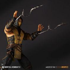 Figuras Mortal Kombat X - Raiden - Scorpion - Subzero - Mezco Toys Mortal Kombat X Scorpion, Anime Figures, Action Figures, Living Dead Dolls, Street Fighter, Master Chief, Pop Culture, Toys, Plushies