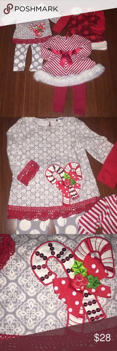 Christmas Bundle 🎄❄️☃️ The perfect Christmas Bundle for any 18M old girl! This casual to dressy bundle is perfect for any Christmas event. Matching Sets