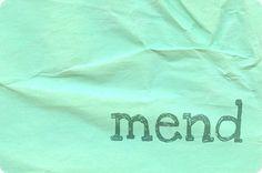 """""""mending life"""" article"""