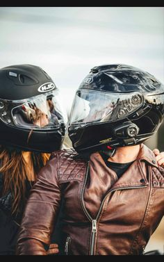 Helmet, biker, couple and leather jacket HD photo by James Gillespie ( on Unsplash Motorcycle Couple Pictures, Bike Couple, Cute Couple Pictures, Biker Chick, Biker Girl, Motorcycle Wedding, Motorcycle Tips, Motorcycle Quotes, Biker Love
