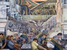 Detroit Industry fresco (north wall, detail) by Diego Rivera, 1932   Detroit Institute of Arts