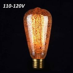 ST58 E27 40W Retro Edison Light Bulb AC 110-120V Incandescent Bulbs  Worldwide delivery. Original best quality product for 70% of it's real price. Buying this product is extra profitable, because we have good production source. 1 day products dispatch from warehouse. Fast & reliable...
