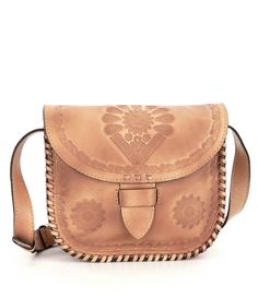 0a6704d3a4a Patricia Nash Tooled Collection Vintage Closure Forli Saddle Bag