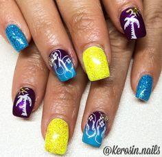 Vacation nails gel nails summer nails nail art ombre nails nail stamp acrylic nails
