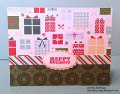 The Crafty Corgi: Day 7 of the 12 Days of Holiday Projects This card uses @Lawn Fawn Falala papers