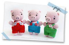 Crochet - Amigurumi pigs