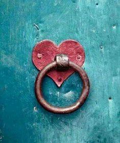 door with heart