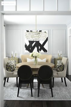 A Gorgeous Dining Room Makeover Reveal With New Gray Walls And Moldings,  Painted From The