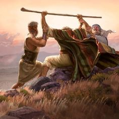 And it came to pass, when Moses held up his hand, that Israel prevailed: and when he let down his hand, Amalek prevailed. Bible Photos, Bible Pictures, Christian Images, Christian Art, Bible Art, Bible Scriptures, Religion, Bible Illustrations, Prophetic Art