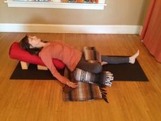 Go with the flow. Connect to svadisthana chakra in this restorative practice. Restorative Yoga Sequence, Yoga Nidra, Vinyasa Yoga, Yin Yoga, Yoga Meditation, Crossfit, Wall Yoga, Yoga International, Yoga Bolster