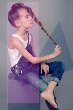 Geometrical fashion. Photo  Marjaana Vaher / Style Kirsi Altjõe  #kidsfashion #kidsfashionphotography #lindex