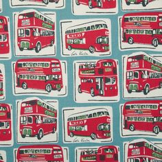 Cotton Fabric | London Buses Cotton Duck | Cath Kidston autumn collection | £20 per metre