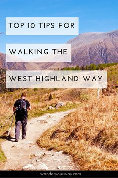 If you've been thinking about tackling the 96 mile West Highland Way in Scotland then please read this article. I've put together some great tips to help you out as you plan and walk this classic long distance trail. Click through to learn more. Backpacking Trails, Hiking Trails, Hiking Routes, John Muir Way, Travel Around The World, Around The Worlds, Scotland Culture, Backpacking Europe, Travelling Europe