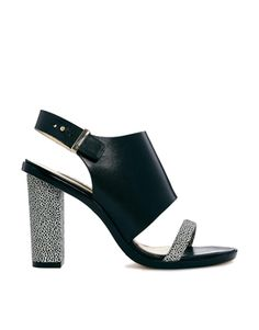 Image 1 of Whistles Gina Cuff Black Heeled Sandals