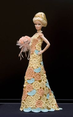 Barbie E Ken, Barbie Dress, Crochet Barbie Clothes, Doll Clothes, Crochet Dresses, Fashion Dolls, Fashion Outfits, Beautiful Barbie Dolls, Laurel Burch