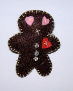 Broche galleta de jenjibre