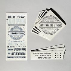 Letterpress Studio Collateral = Love