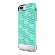 Prodigee Stencil iPhone 7 Plus (5.5 in) Case - Teal/Silver
