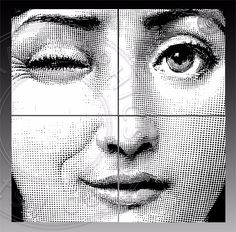 """Lina Cavalieri face Digital download - EXTRA LARGE WALL DECOR Four 24""""X24"""" images to form a 48"""" wall poster. You will receive 4 high resolution 300ppi 24x24 inch pages (one image on each) in PNG file format. Please hover the cursor over the picture and"""