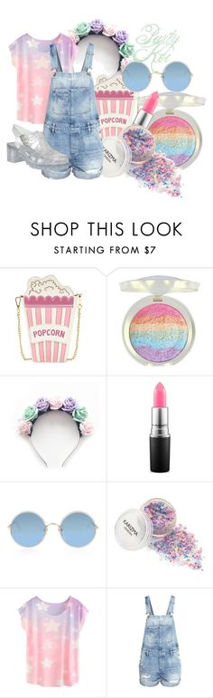 """Party Kei - F"" by coraisacatmeow ❤ liked on Polyvore featuring LOTTA, MAC Cosmetics, Sunday Somewhere, H&M, pastel, kei, childish, partykei and pixielocks"