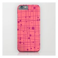 Woven Web Pink iPhone 6s Case ($35) ❤ liked on Polyvore featuring accessories, tech accessories and iphone & ipod cases