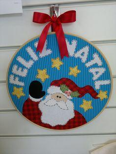 Quadrinho de Natal com bastidor.