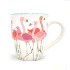 Mother's Day gift guide: Flamingo Decal mug (13 oz.), Sonoma Life and Style, $10