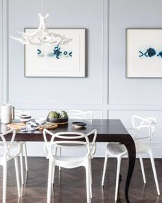 Antler Chandelier - 6 Antlers (White) — Interior by Lauren Nelson Design. Image by Aubrie Pick. Designed by Jason Miller for Roll & Hill