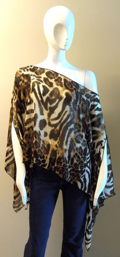 Limited Edition ICJUK Label Leopard print sheer top - Inspired by Claire Jane, LLC