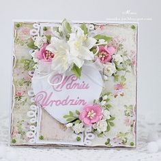 Birthday card with Craft&You Design papers, Rosy Owl die and Wild Orchid Crafts flowers . #handmade #rekodzielo #recznierobione  #kartka #diecutting #cardmaking #card #scrapbooking  #birthdaycard #birthday #lilies #wocflowers #paperflowers #shabby #shabbystyle #instacrafts #instascrap #instaart #instaartdaily #paperdesign #paperartwork