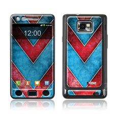 """Red Blue"" Doming SmartphoneCover - Samsung S2 www.cushyskins.com Samsung S2, Smartphone, Phone Cases, Red, Blue, Phone Case"