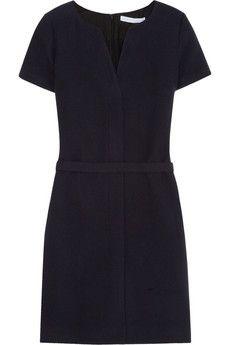 Victoria, Victoria Beckham Wool-blend twill dress   NET-A-PORTER