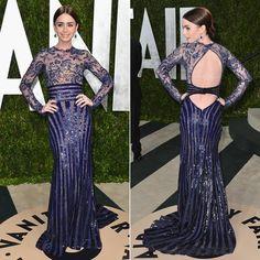 lily collins vestidos de gala - Buscar con Google