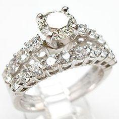 VINTAGE DIAMOND ENGAGEMENT WEDDING RING BRIDAL SET, SO PRETTY!!