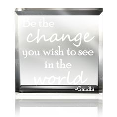 Amazon.com - Kate Posh - Be the change you wish to see in the world Gandhi Keepsake & Paperweight -