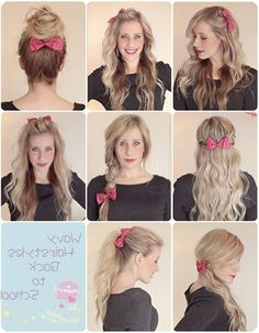 Quick Hairstyles For Curly Hair School Top 9 Ombre Back To Cute