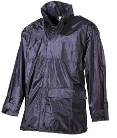 Regenjacke, Polyester mit PVC, schwarz So kommen Sie trocken durch verregnete Herbsttage / mehr Infos auf: www.Guntia-Militaria-Shop.de