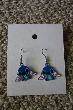 Blue Stitch Earrings by TheStitchingNitch on Etsy, $5.00